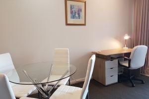 The Dining Area & Desk in the Hamilton Studio.