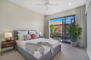 The Main Bedroom at Civic Park Apartments