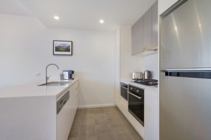 The Kitchen of The Herald One Bedroom Apartment.