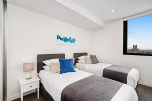 The Main Bedroom of Horizon Two Bedroom Apartment B1008.