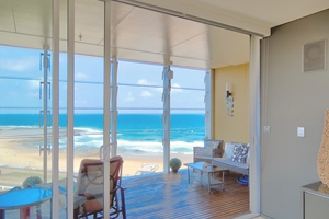 The View From The York Two Bedroom Oceanview Apartment at Newcastle Beach.