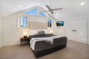 The Second Bedroom at James Street Morpeth Three Bedroom Townhouse.